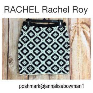 🐞RACHEL by Rachel Roy knit block skirt size Small